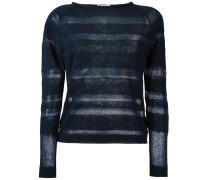 Pullover mit semi-transparenten Streifen