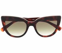 tortoiseshell-effect cat-eye sunglasses