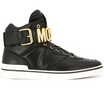 High-Top-Sneakers mit Logo-Schil