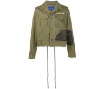Military-Jacke mit ausgefransten Kanten
