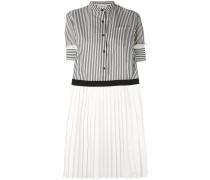 Gestreiftes Kleid mit kurzen Ärmeln - women