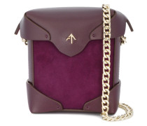mini purple pristine shoulder bag