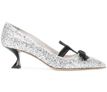 glittered bow detail pumps