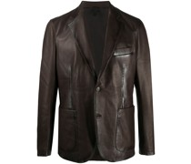 Carlton leather blazer