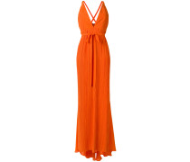 - Kleid mit tiefem V-Ausschnitt - women