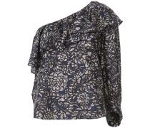 Einschultrige Bluse mit Print