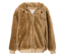 Kapuzenjacke aus Faux Fur