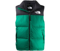 logo embroidered zip-up gilet