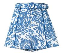 Geblümte 'Lew' Shorts