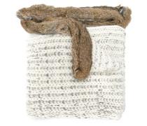 Schal mit Kaninchenpelzbesatz