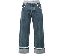 Jeans mit Rüschenborten