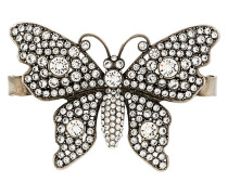 crystal-embellished butterfly palm bracelet