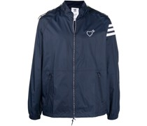 heart-detail zip-up windbreaker