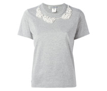 - T-Shirt mit Perlenstickerei - women - Baumwolle