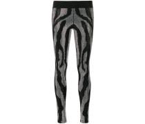 rhinestone zebra stripe leggings