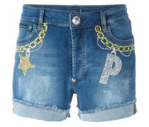 Jeans-Shorts mit Stickereien - women