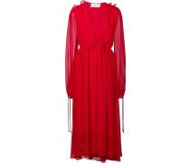 Fließendes Kleid mit V-Ausschnitt