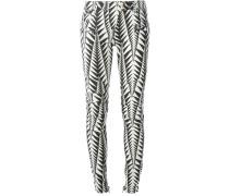Skinny-Jeans mit geometrischem Print