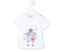 T-Shirt mit Roboter-Print - kids - Baumwolle