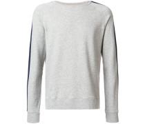 crewneck knit stripe sweatshirt