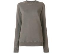 Sweatshirt mit geripptem Saum
