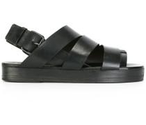 Flatform-Sandalen mit Zehenriemen