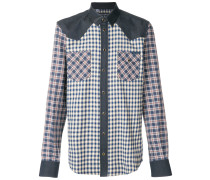 contrast checked shirt