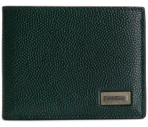 logo plaque bi-fold wallet