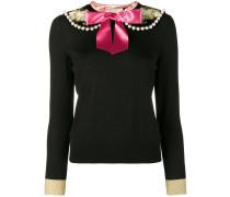 Pullover mit verziertem Schleifenkragen