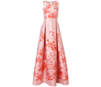 floral flared long dress