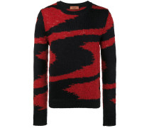 intarsia knitted jumper