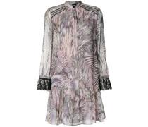 lace trim printed dress