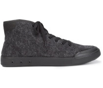 High-Top-Sneakers aus Wolle