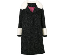 quilted coat with fur
