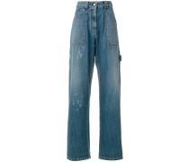 paint splatter wide jeans