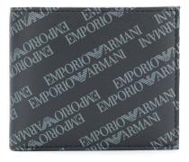 logo printed bi-fold wallet