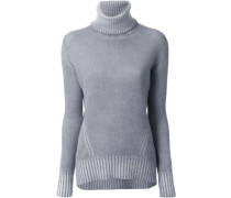 bleached roll neck jumper