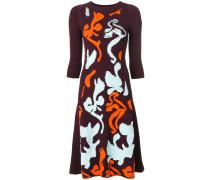 Contrast Baroque knit dress
