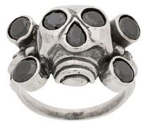 Ring mit Strass-Totenkopf