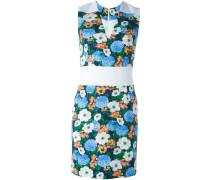 Eng anliegendes Kleid mit Blumen-Print