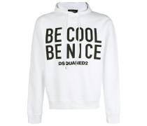 Be Cool Be Nice print hoodie