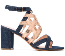 Sandalen mit Metallic-Riemen