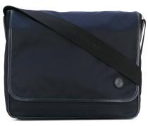 - logo patch large messenger bag - men