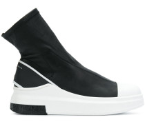 Sock-Sneakers mit Kontrastsohle