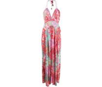 Neckholder-Kleid mit Blumen
