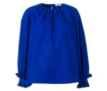 Oversized-Bluse mit Rüschen