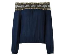 Schulterfreie Bluse mit gehäkeltem Ausschnitt