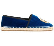 King Of Hearts embroidered espadrilles