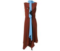 scarf neck draped dress