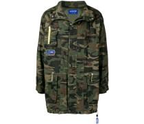 Military-Kurzmantel mit Camouflage-Print